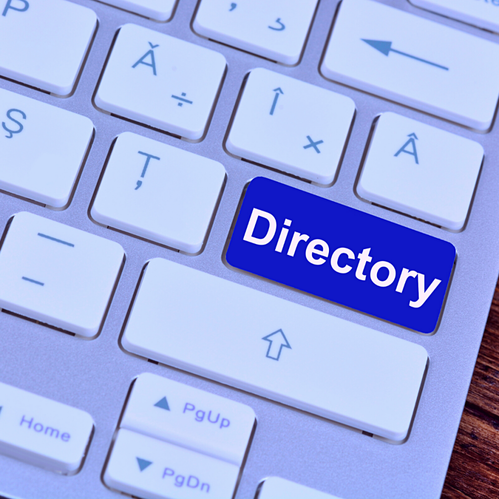 keyboard with the word Directory on a key